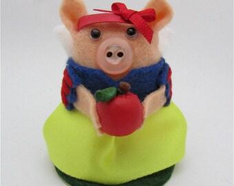 Snow White Pig - Snow White Disney Gift - Pig Ornament
