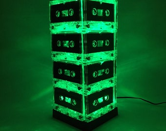 Green Cassette Tape Lamp Mixtape Light Mood Light