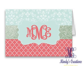 Personalized Note Cards (Pack of 10) with Envelopes
