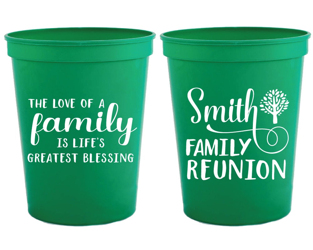 Family reunion cups gifts