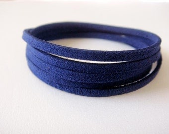 Suede Wrap Bracelet **Navy**