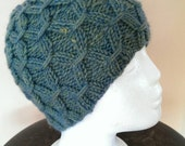 New Knitted Hand Made Hat  , Ski Hat - Autumn Green