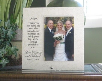WEDDING OFFICIANT GIFT, wedding officiant frame, wedding officiant, wedding officiant picture frame, 4 x 6  photo, Personalized Frame