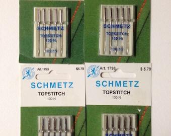 4 Packages Schmetz Topstitch Sewing Machine Needles