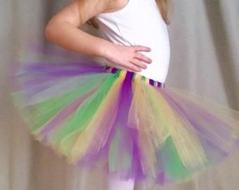 Mardi Gras Tutu | Purple Green Yellow Tutu Skirt | Purple Tutu | Green Tutu | Yellow Tutu | Gold Tutu | Girls sizes 6-14