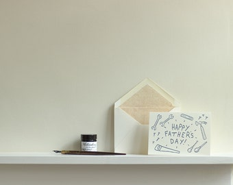 DIY Father's Day Letterpress Greetings Card