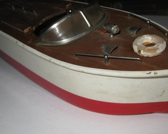 Vintage Electric Fleet Line Fiesta Queen Toy Wooden Boat collectible ON SALE