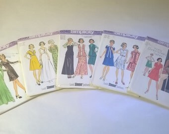 5 Pack Assorted Vintage Simplicity Sewing Patterns SIM 6024