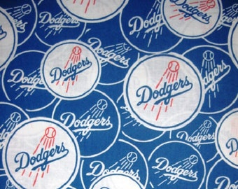 MLB Los Angeles Dodgers 100%Cotton v2 Fabric by the yard
