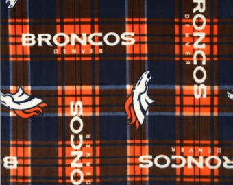NFL Denver Broncos Anti Pill Fleece V3 Fabric by the yard