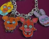 FNAF Bracelet, Five Nights at Freddys Bracelet, Freddy Charm Bracelet, FNAF Jewelry