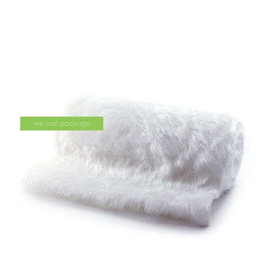 White Faux Fur Table Runner 12 X 96