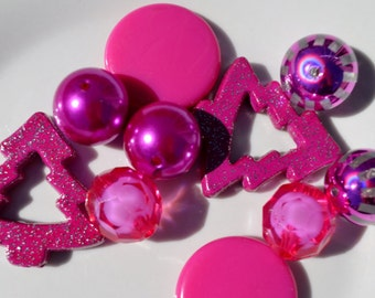 Sample Collection, Pink Beads, 10CT, 20mm and up, B1A