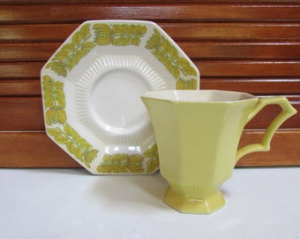 Set of 7 Independence Ironstone Interpace Japan Teacups and Saucers