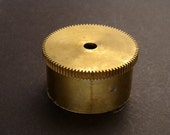 Large Brass Cylinder Gear, Mainspring Barrel from Vintage Clock Movement, Vintage Clockwork Mechanism Parts, Steampunk Art Supplies 03882