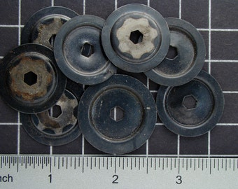 Mixed Lot of Steel Washers Vintage Sheet Metal Clock Plates, Parts to Make Mixed Media Sculpture or Goggles Steampunk Art Supplies 03936