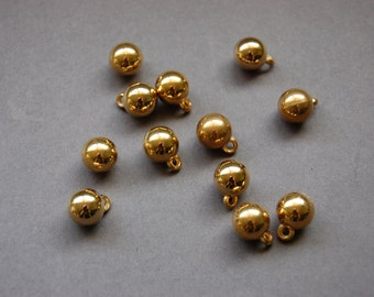 Gold Ball Charms/Shank Button