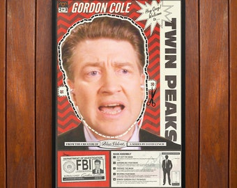 Twin Peaks Poster or Framed Print, David Lynch as Gordon Cole Mask