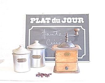 Vintage French Coffee Grinder Japy Acier