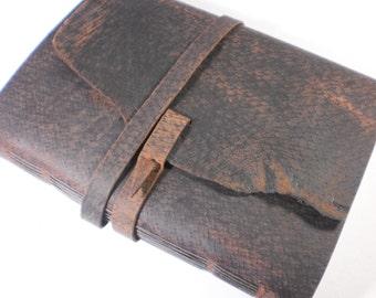 Blank Book Handsome Dark Oil-Tanned Pigskin Cover Sketchbook