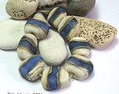 Saxon Stream, Lampwork Pebble Beads, SRA, UK