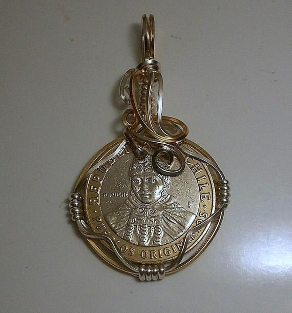 Chile  Mapuche Coin Pendant 2006