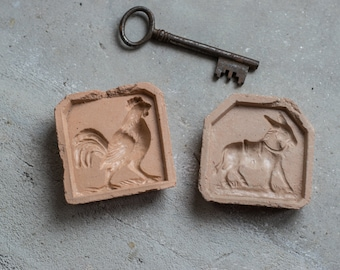 French Ceramic Toy Molds // Vintage Casting Molds