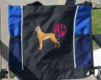 Personalized large tote bag - Dance Bag, Dog bag, Nurse Bag, Doctors Bag, Teacher Bag, Book Bag, Dog Totebag, School Bag