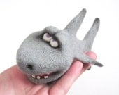 Needle felted toy - tiger shark