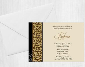 Elegant Cheetah Invitation