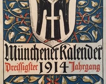Munich Calendar 1914 Otto Hupp Heraldic Crest Coat of Arms