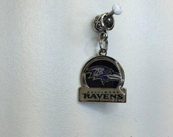 Baltimore Ravens circle charm