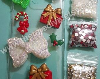 Cute, Bling, Deco Handmade Phone Case - Christmas