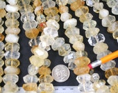 Natural Citrine Faceted Nugget Beads Strand, 15.5-Inch Strand G01126