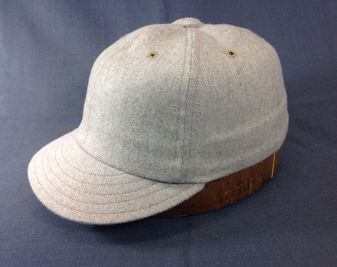Super soft camelhair wool cap. Beige only, custom made for any headsize. Limited material. Leather or cotton sweatband.