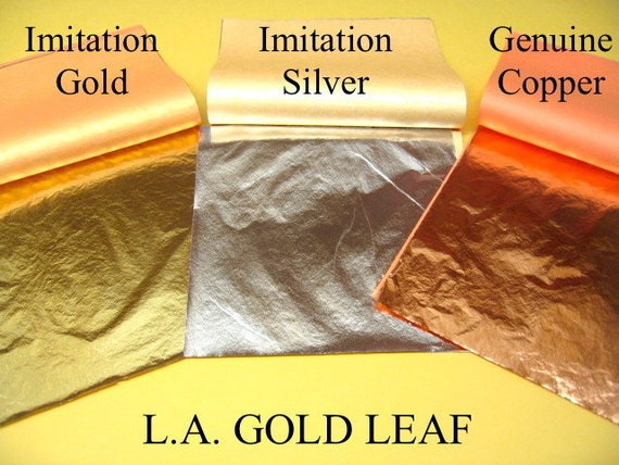 Imitation Gold(25), Imitation Silver(25) & Genuine Copper(25) Loose Leaf Total Of 75sheets