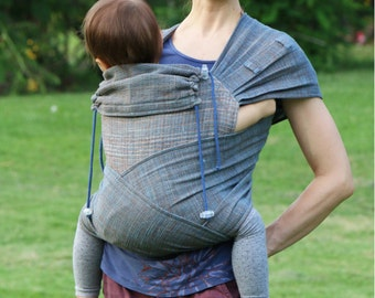 BaBy SaBye Wrap Mei Tai sling hand-woven two-side with a hood TODDLER size model39 Evening/Morning