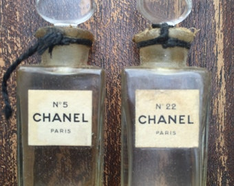Chanel Vintage Crystal Bottles No. 5 and No. 22