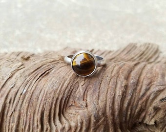 Sterling silver tiger eye ring, Tiger Eye ring, Tiger Eye jewelry, Silver jewelry, Custom silver jewelry, one of a kind