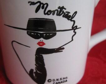 Vintage Smoking Lady MONTREAL Mug