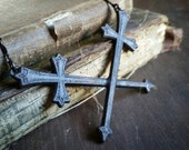 Double Crossed Swords Necklace