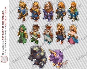 32bit Final Fantasy Tactics - Car/Refrigerator Magnets