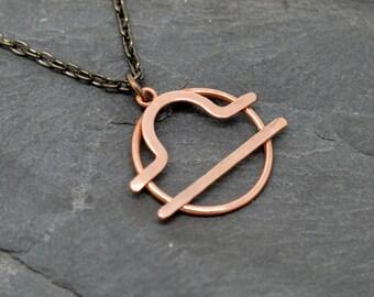 Libra zodiac sign necklace