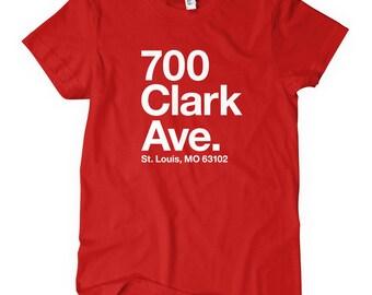 Women's St. Louis Baseball Stadium T-shirt - S M L XL 2x - Ladies St. Louis Tee, Sports, Fan - 4 Colors