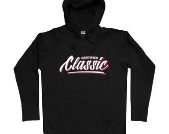 Certified Classic V2 Hoodie - Men S M L XL 2x 3x - DJ Hoody Sweatshirt - Hip Hop, Music, Graffiti, Tattoo - 2 Colors