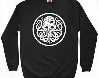 Cthulhu Symbol Sweatshirt - Men S M L XL 2x 3x - Crewneck, Mythos, Mythology, Sea Monster, Horror - 2 Colors