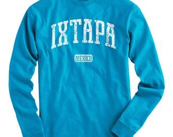 LS Ixtapa Mexico Tee - Long Sleeve T-shirt - Men S M L XL 2x 3x 4x - Gift, Zihuatanejo, Mexican, El Palmar Beach, Surfing - 4 Colors