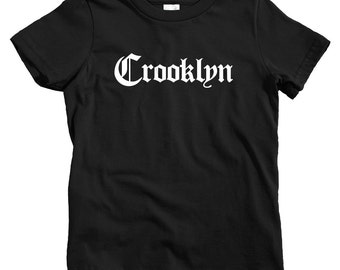Kids Crooklyn Gothic Brooklyn T-shirt - Baby, Toddler, and Youth Sizes - NYC Tee, New York City - 4 Colors