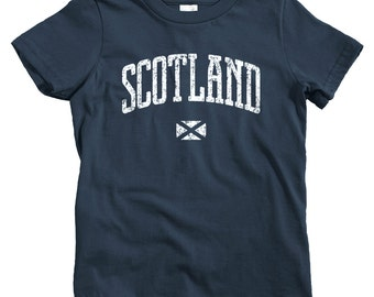 Kids Scotland T-shirt - Baby, Toddler, and Youth Sizes - Scottish Tee, Glasgow, Edinburgh, Aberdeen, Inverness - 4 Colors