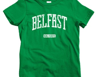 Kids Belfast T-shirt - Baby, Toddler, and Youth Sizes - Northern Ireland Tee, Irish - 4 Colors